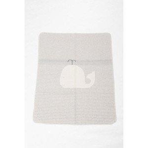 70 x 90 cm Babydecke Juwel Wal/Streifen grau/filz David Fussenegger