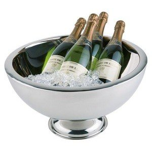 Champagnerkühler doppelwandig Edelstahl Durchmesser 44cm Assheuer & Pott