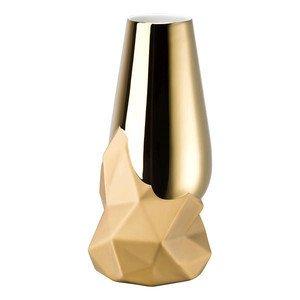 Vase 27 cm gold titanisiert Geode Rosenthal