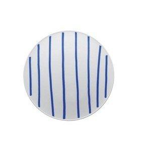 Teller flach 32 cm ONO friends blue Lines Thomas