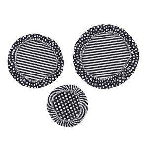 Textildeckel 3er Set schwarz, weiß gestreift unbewachst Nuts Innovations AG
