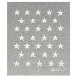 20x17 cm Spültuch Little white stars on grey More Joy