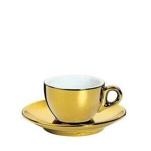 Espressotasse mit Untertasse Roma gold Cilio