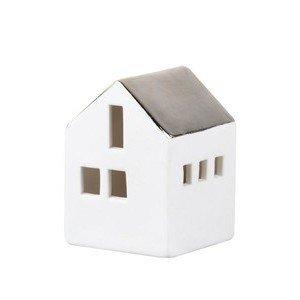 Mini-Lichthaus LED weiß/metallic Räder