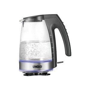 Glaswasserkocher Glas / Schwarz 1,2l 2300 Watt Unold