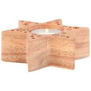 Xmas Holzstern klein 9,5x8,5x3,5cm Räder