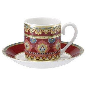 """Espressotasse mit Untertasse 2-tlg. 100 ml """"Samarkand Rubin"""" Villeroy & Boch"""