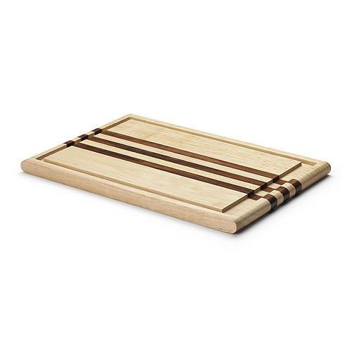 tranchierbrett 37 cm mit akazie streifen gummibaum holz schneidebretter schneiden. Black Bedroom Furniture Sets. Home Design Ideas