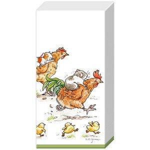 Papiertaschentücher Run Rooster Run white IHR
