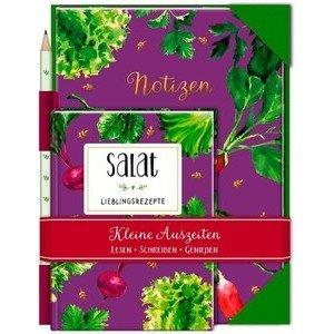 Buch mit Notizheft und Bleistift Salat Coppenrath