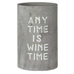 Weinkühler Beton Any Time is Wine Time Räder