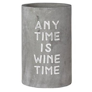 Weinkühler Beton Any Time is Wine Time Räder