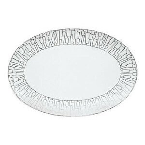 Platte 34,0 cm x 23,5 cm TAC Skin Platin Rosenthal