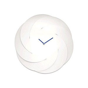 Wanduhr aus Stahl Super White Infinity Clock Alessi