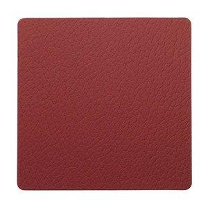 10x10 cm Untersetzer square red/Bull LINDDNA