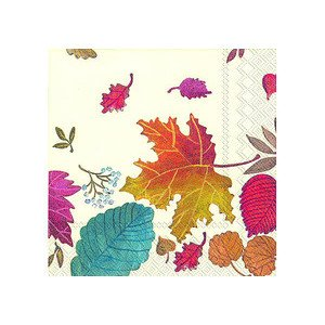 Servietten 25 x 25 cm Autumn Day cream IHR