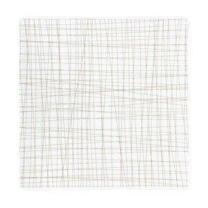 Teller quadr. 22 cm flach Mesh Line Walnut Rosenthal