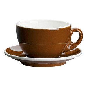 Milchkaffeetasse Roma marone m. Untere Cilio