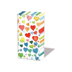 Papiertaschentücher Colourful Hearts Mix Ambiente