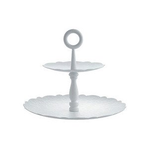 Etagere 2 tlg. weiss Dressed X-Mas Alessi