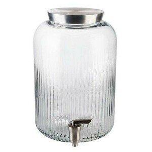Getränkespender 7 l. Glas, Edelstahl m.Deckel u.Zapfhahn Assheuer & Pott
