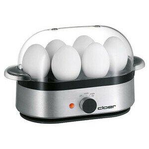 Eierkocher Alu matt für bis zu 6 Eier 400 Watt Cloer