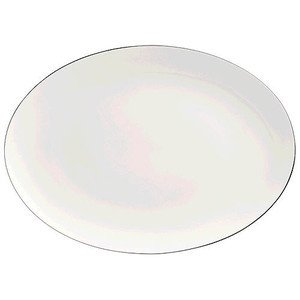 "Platte 43 cm oval ""Curve Silver Curve"" Rosenthal"