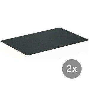 Schneidauflage 35x25x2cm 2er Set schwarz Rösle