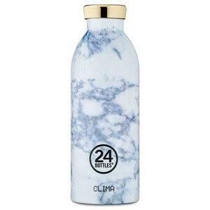 Thermo Trinkflasche 0,5l Clima Bottle weiss Marmoroptik 24bottles