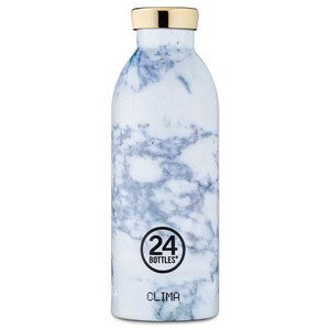 Thermo-Trinkflasche 0,5l weiss Marmoroptik 24bottles