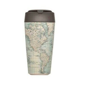 To Go Becher 420ml bioloco plant deluxe antique map chic mic
