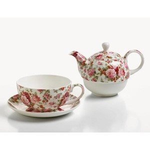 Teeservice für 1 Person Roe Sommerrose GB Maxwell & Williams