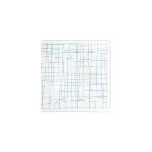 Teller quadr. 9 cm flach Mesh Line Aqua Rosenthal