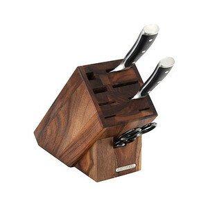 Messerblock mit 8 Schlitzen Akazie geölt 22x11,5x22cm Continenta