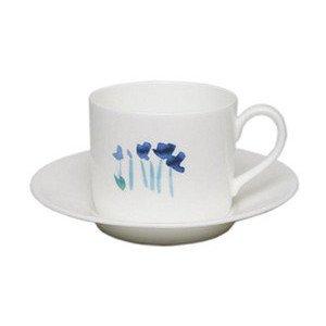 Kaffee Obere 0,25ltr. zyl. Impression Blume blau Dibbern