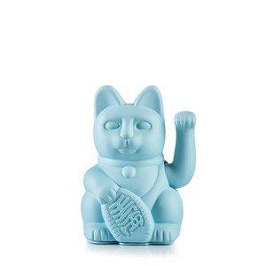 Winkekatze Lucky Cat/Blue Kunststoff, ohne Batterie Donkey