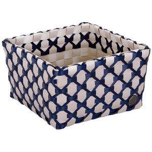 Korb 21 x 21 x 12 cm Albi grau/dunkelblau Handed By