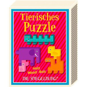 Tierisches Puzzle Spiel&Spass in der Schachtel Die Spiegelburg