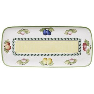 "Kuchenplatte 35 cm x 16 cm eckig ""French Garden Charm& Breakfast"" Villeroy & Boch"