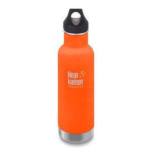 Trinkflasche Classic orange ma vakuumisoliert 592ml mit Loop Cap klean kanteen