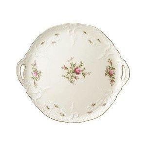 Tortenplatte rund Sanssouci Elfenbein Moosrose neu Poliergold Ramona Rosenthal