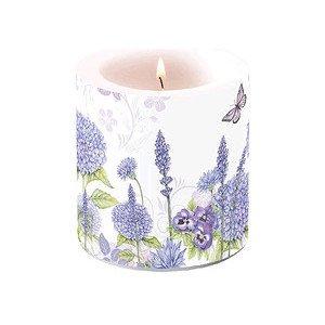 Wachslicht klein Purple Wildflowers Ambiente