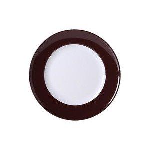 "Teller 26 cm ""Solid Color Kaffeebraun"" flach Dibbern"