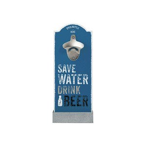 Wand- Flaschenöffner Save Water Drink Beer Contento