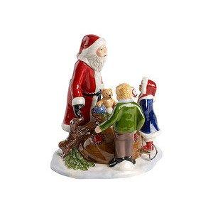 Szene Santa mit Kindern 15x15x Christmas Toys Villeroy & Boch
