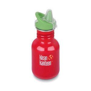 Trinkflasche Kid Classic rot einwandig 355ml mit Sippy Cap klean kanteen