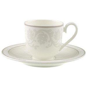 """Espressotasse mit Untertasse 100 ml rund """"Gray Pearl"""" Villeroy & Boch"""