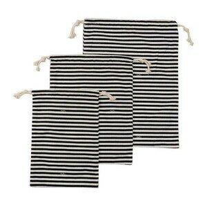 Textilbeutel 3er-Set Streifen schwarz-weiß Nuts Innovations AG