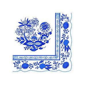 Serviette Lunch 33 x 33 cm Blau Zwiebelmuster IHR