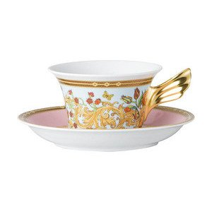 """Teetasse mit Untertasse 220 ml """"Le jardin de Versace"""" konisch Versace"""
